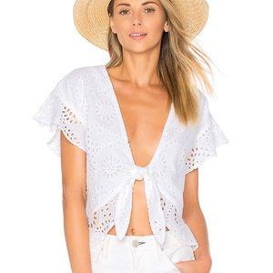 Tularosa Winnie blouse In white (xs)